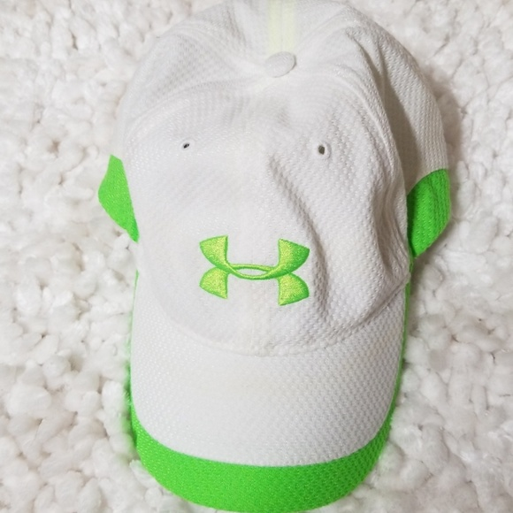 Delincuente colisión índice  Under Armour Accessories | Lime Green And White Hat | Poshmark